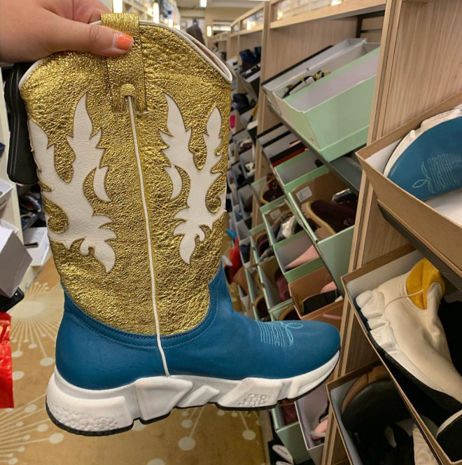 Yes, cowboy boot sneakers really exist.