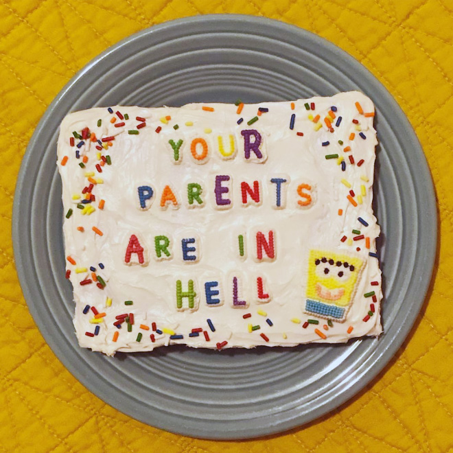 Truly cursed cake.