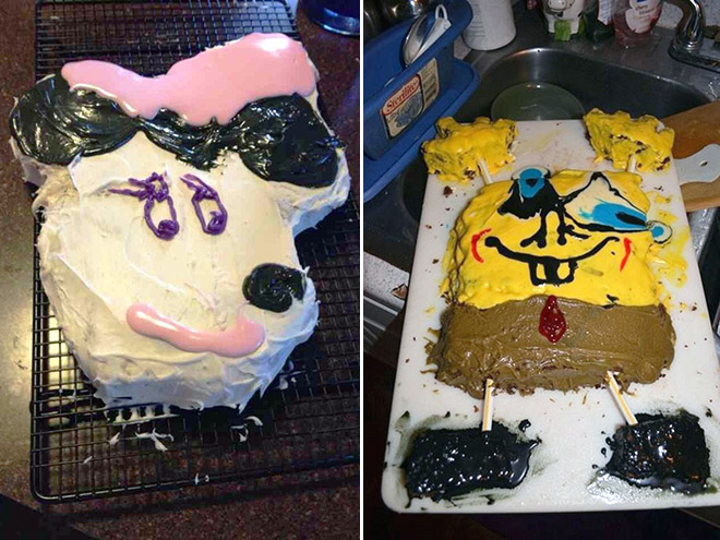 Truly cursed cakes.