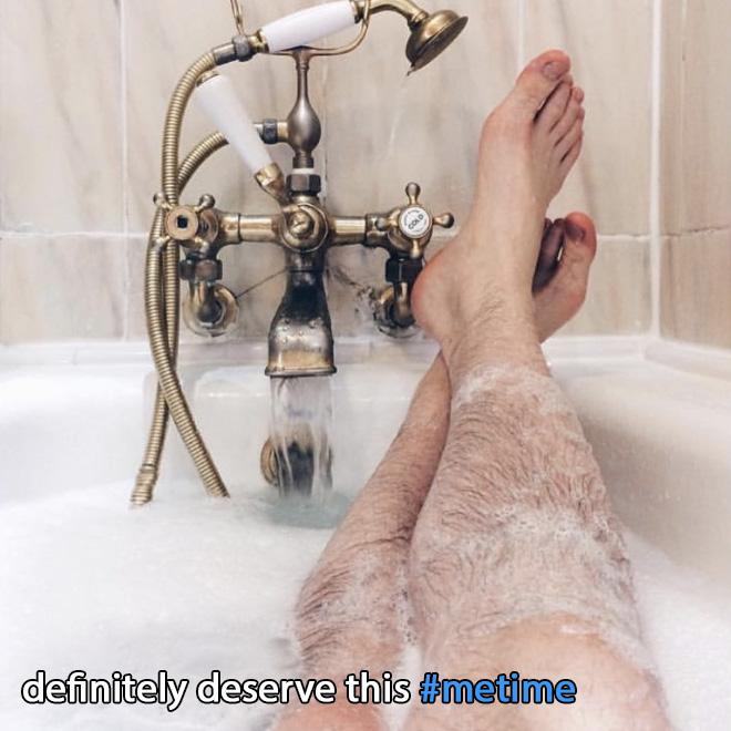 Women's Instagram photo parody.