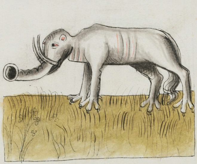This is how medieval artists painted elephants.