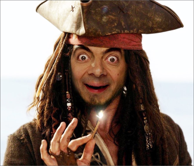 When Mr. Bean meets Photoshop...