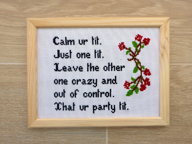 Awesome cross stitch.