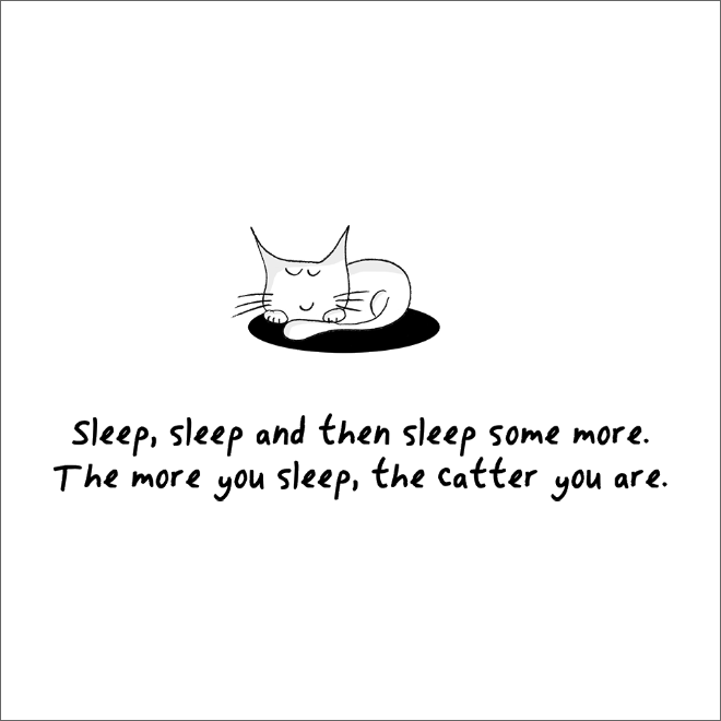 Great tip on how to be a cat.