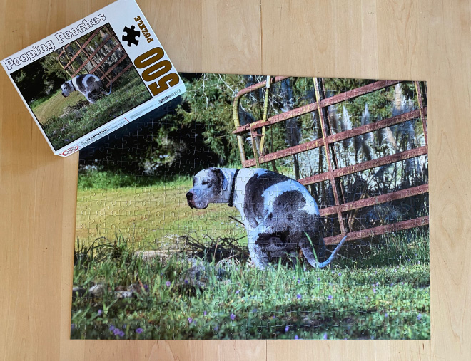 Pooping Pooches jigsaw puzzle.