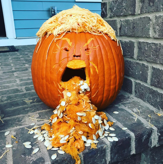 Trumpkin (Trump pumpkin).