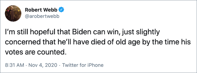 Election night tweets are the best tweets.