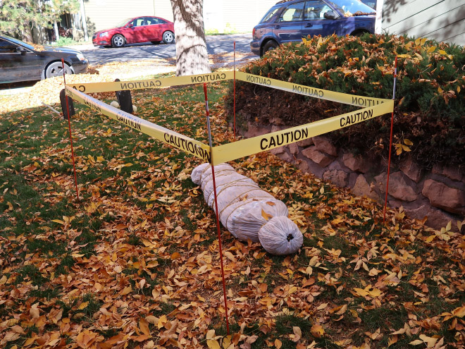 Sometimes people go too far with Halloween decorations.