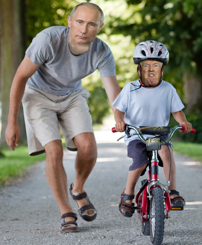 Papa Putin and little Donald.