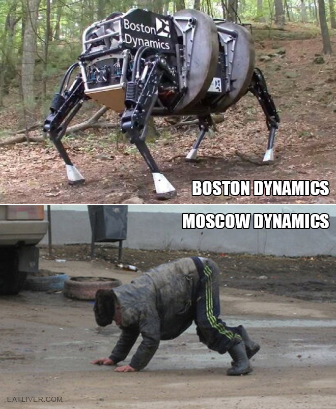 Russian high tech robots are really impressive.