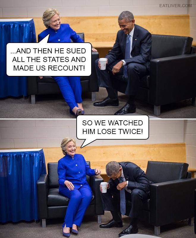 He made us watch him lose twice!