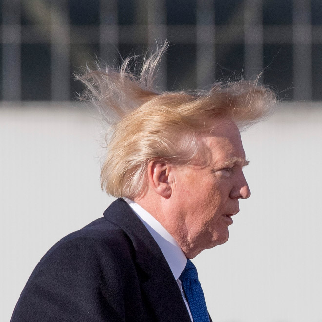 Trump always loses to wind.