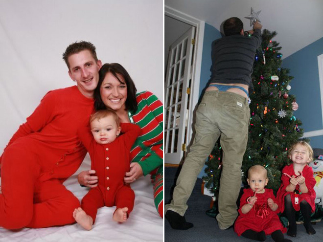 Weird Christmas family photos.