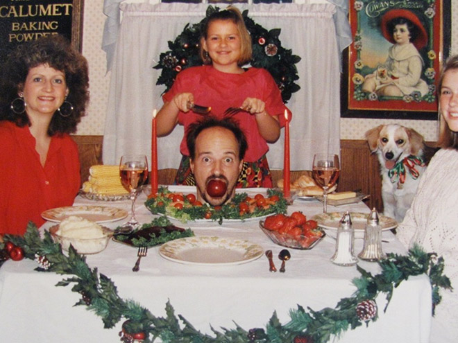 Weird Christmas family photo.