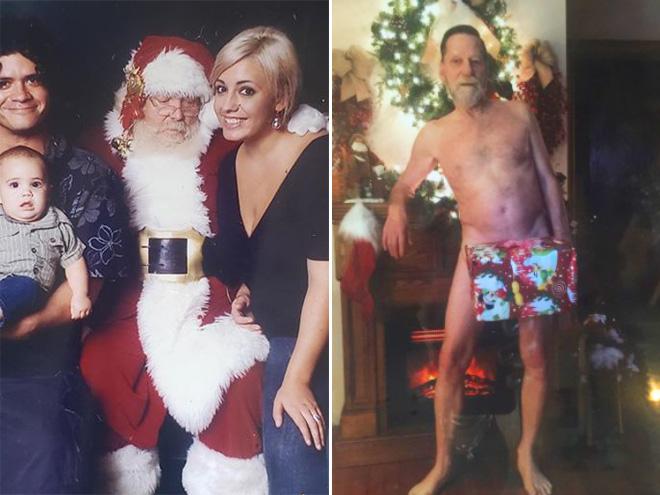 Weird Christmas family photos.