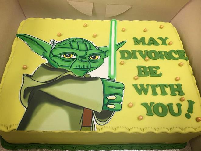 Funny divorce cake.