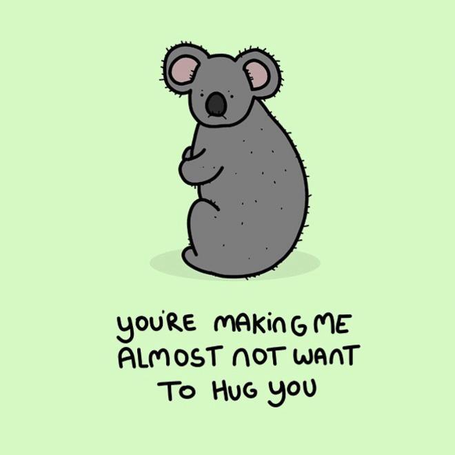 Grumpy animal.