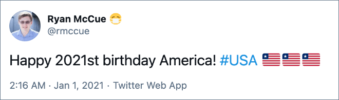 Happy birthday, USA!