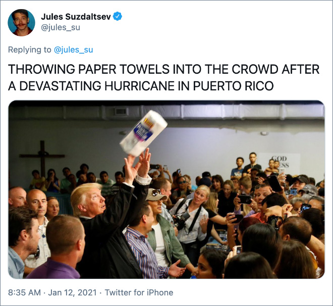 Remembering the stupid things Trump has said and done.