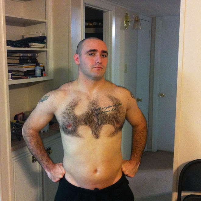 Chest hair art is the best form of art!