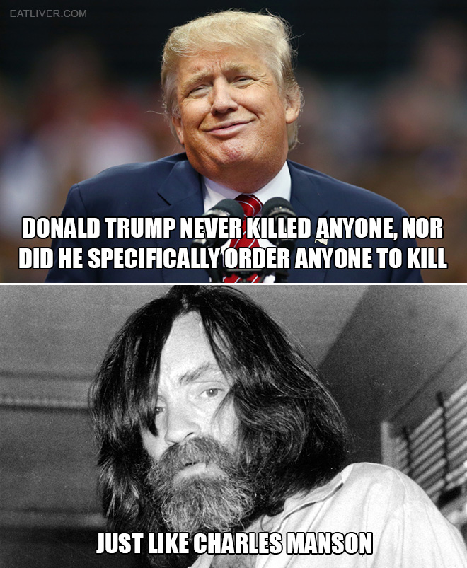 Turns out Charles Manson and Donald Trump have something in common.