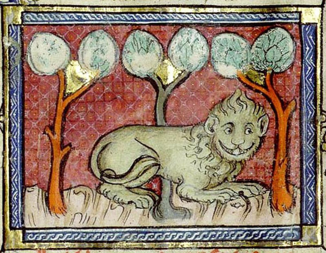 Medieval artists were terrible at drawing lions.