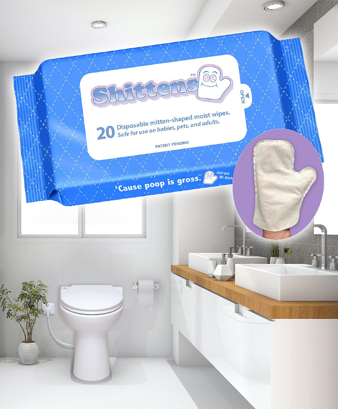 Shittens: the perfect toilet paper alternative.