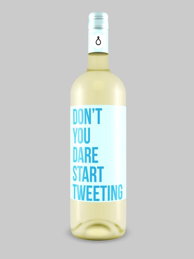 Brutally honest wine bottle.