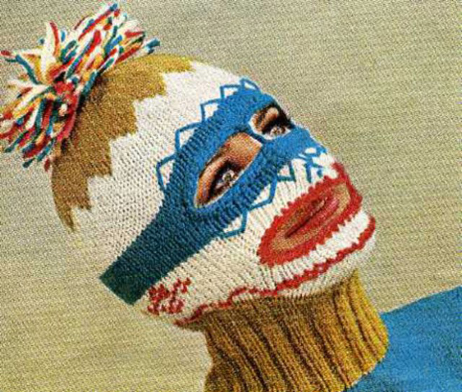Creepy knitted balaclavas were really popular in 1970s.