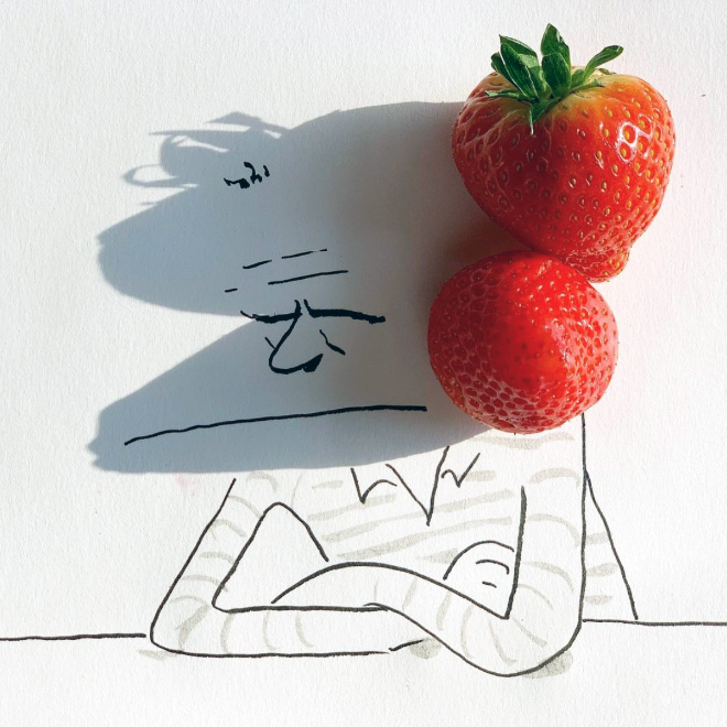 Funny shadow doodle.