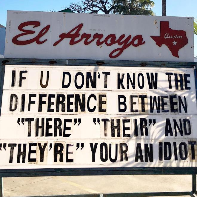 Hilarious restaurant sign.