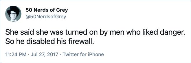"Nerdy ""50 Shades of Grey"" parody."