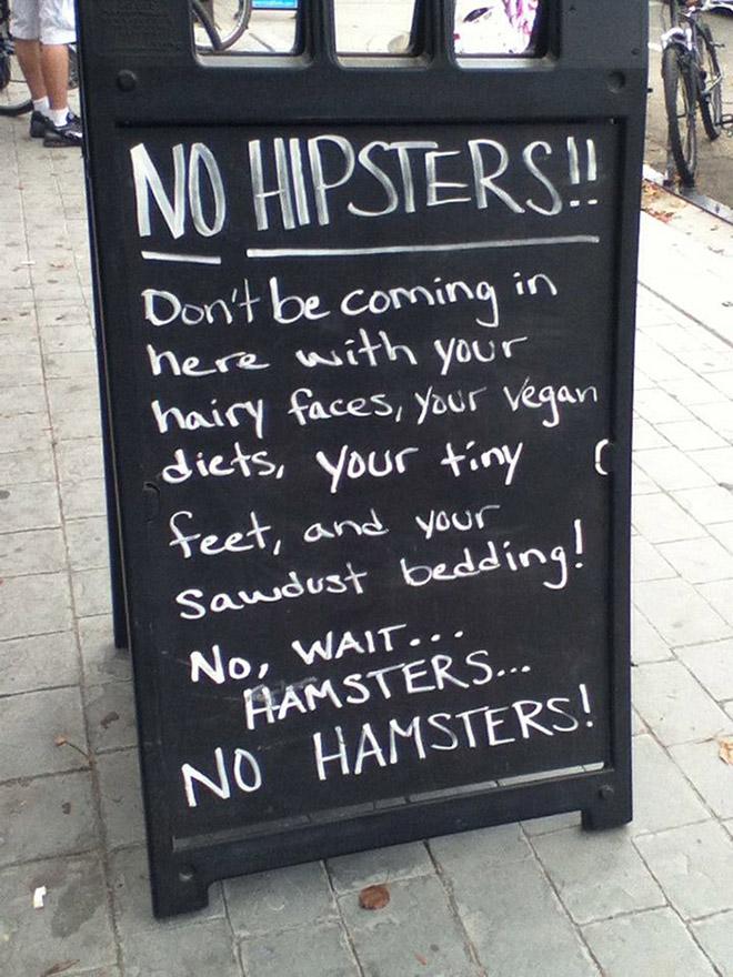 Funny restaurant sidewalk sign.