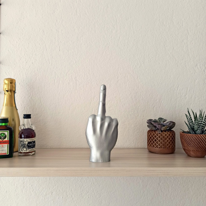 Middle finger candle.