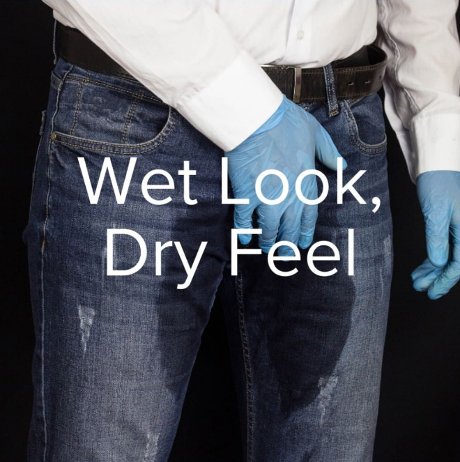 Jeans that look like you pissed yourself.