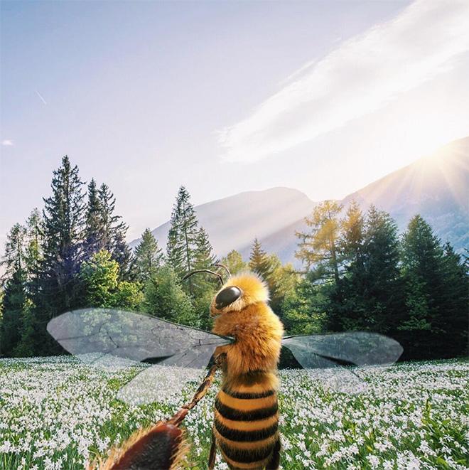 Bee influencer Instagram picture.