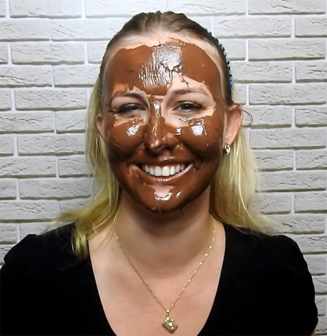 Some people think putting Nutella on their face is a good idea.