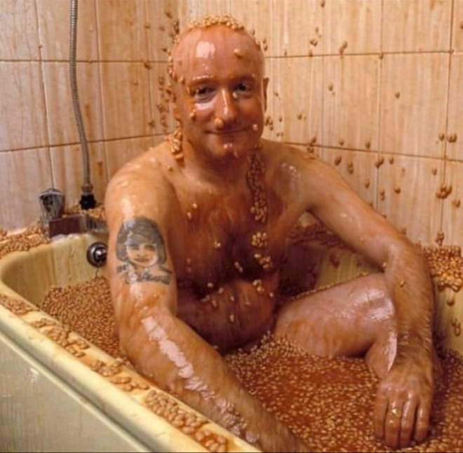 So bean baths are a thing now...
