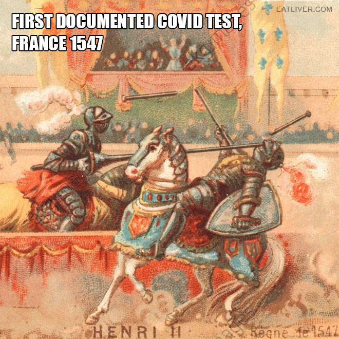 The first Covid test ever.