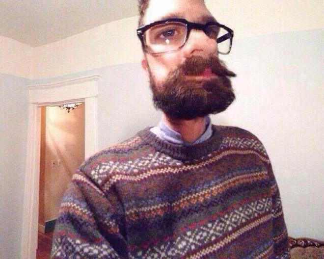 Panoramic mode selfie fail.