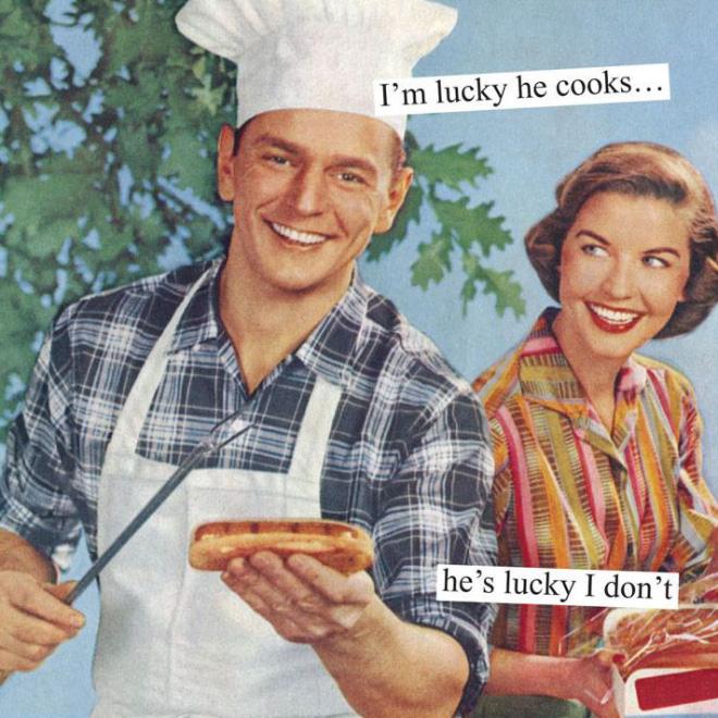 1950s America parody.