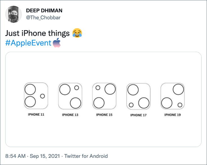 Funny reaction to iPhone 13