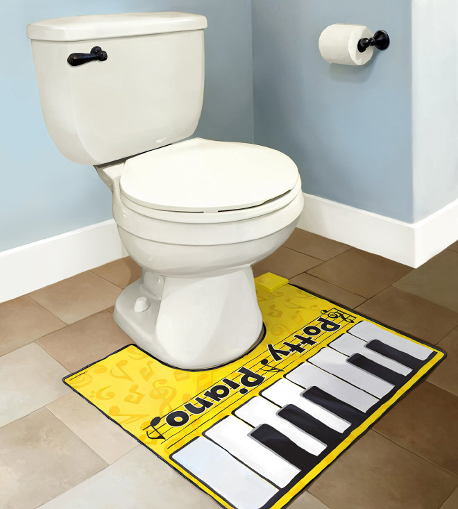 Toilet piano.