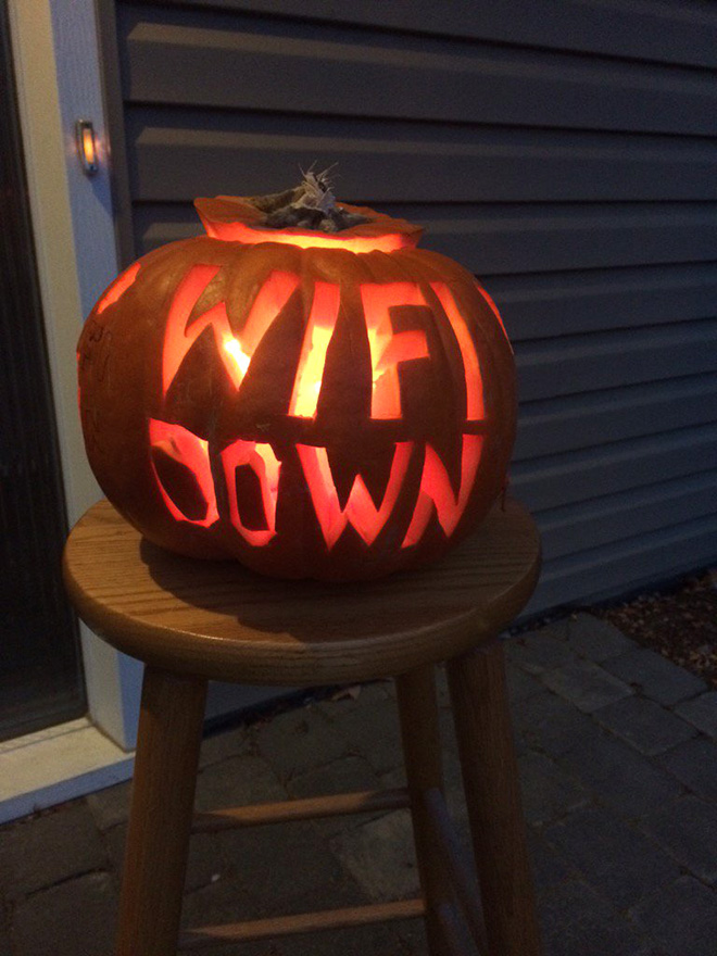 Terrifying Halloween pumpkin.