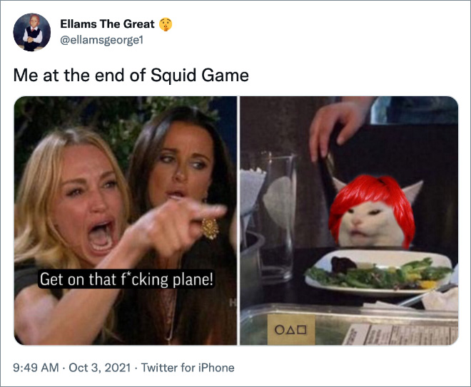 """Funny """"Squid Game"""" reaction."""